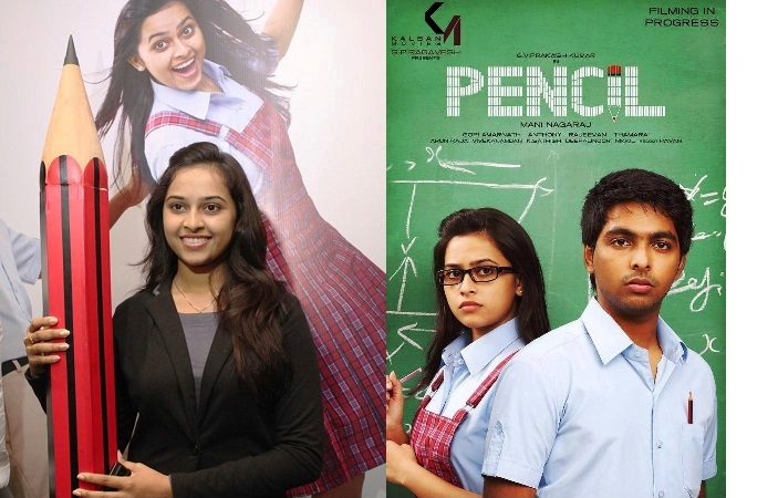 Actress Sri Divya @ Pencil Movie Press Meet Stills