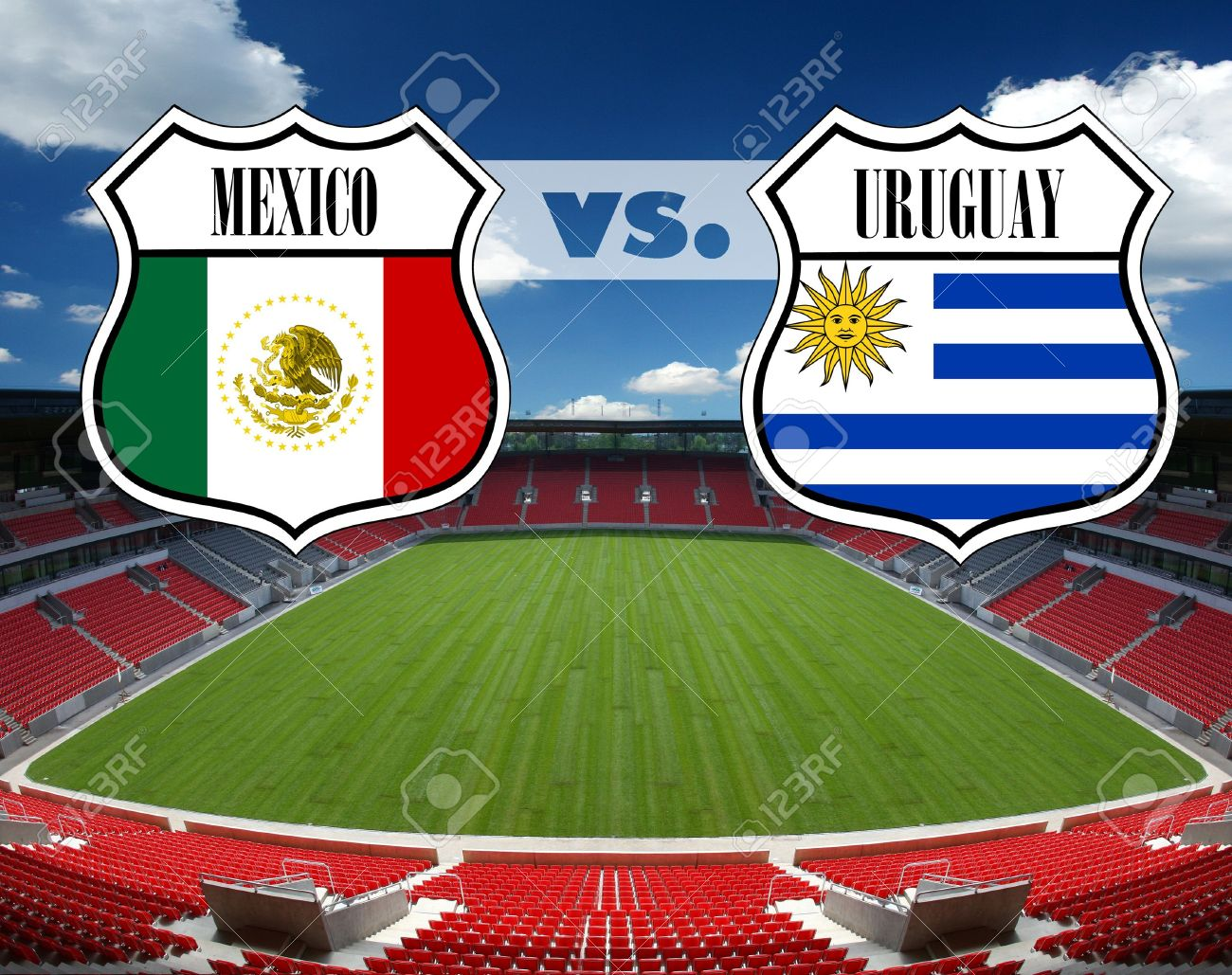 6550914-Mexico-vs-Uruguay-Stock-Photo