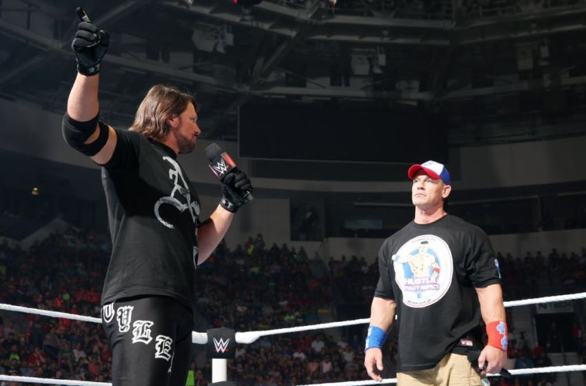 AJ Styles vs John Cena wwe monday night raw 2016