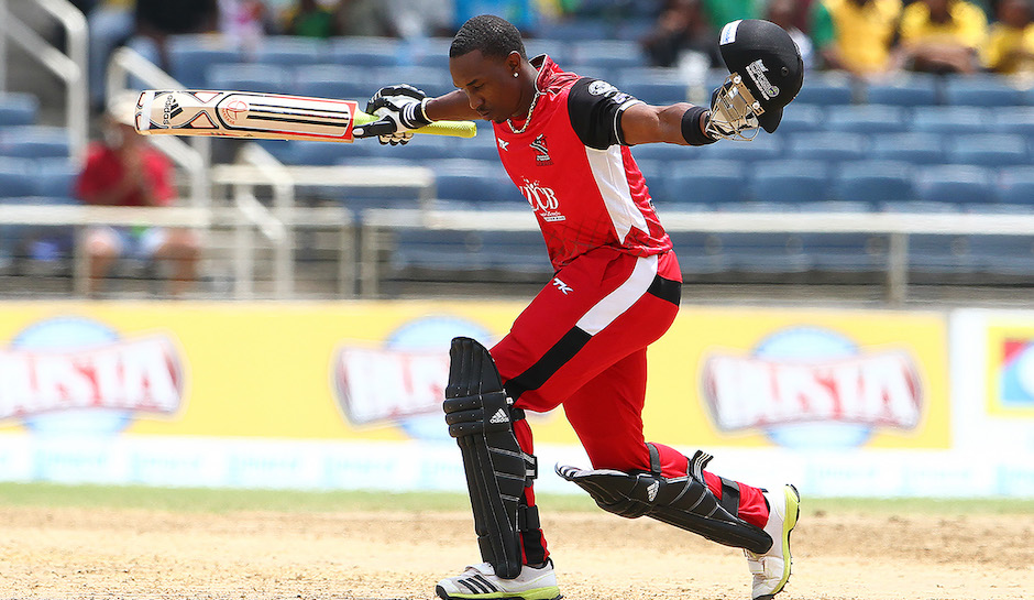 KINGSTON, JAMAICA - AUGUST 17: Dwayne Bravo during the Eighteenth Match of the Cricket Caribbean Premier League between St. Lucia Zouks v Trinidad and Tobago Red Steel at Sabina Park on August 17, 2013 in Kingston, Jamaica. (Photo by Ashley Allen/Getty Images Latin America for CPL)