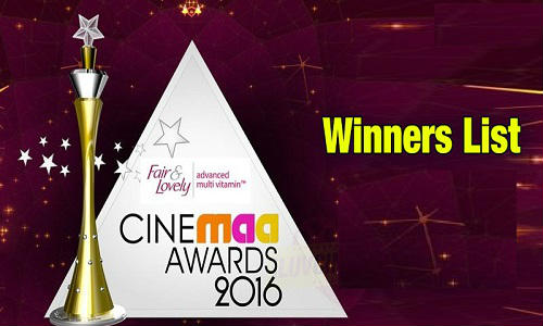 CineMAA Awards 2016 Complete Winners List Telecast Date Best Film Actor Actress