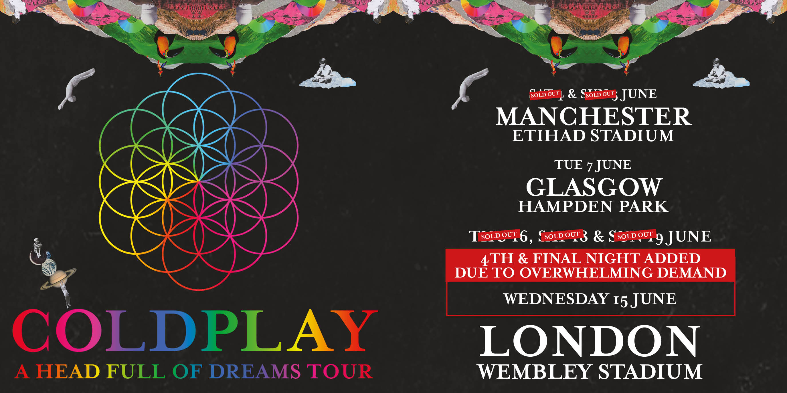 Starting Tomorrow Coldplay Live Performance At Wembley Stadium London