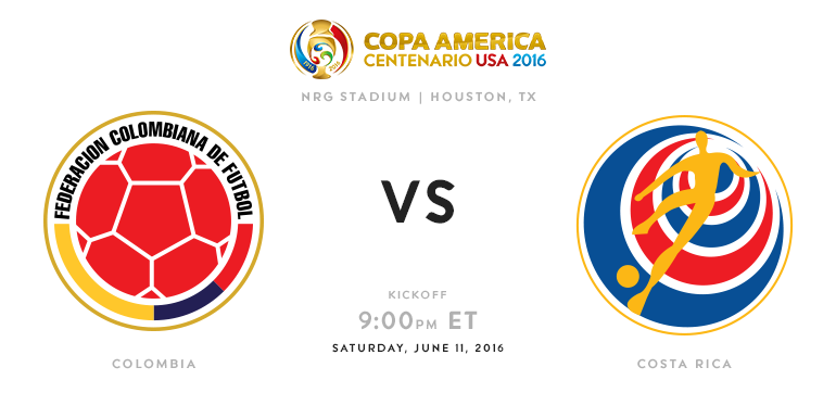 Colombia Vs Costa Rica 2016 Copa America preview