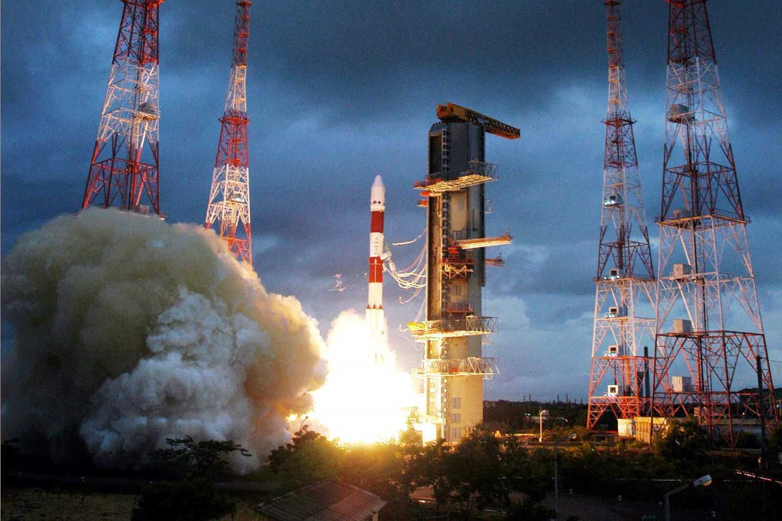 ISRO PSLV rocket launch