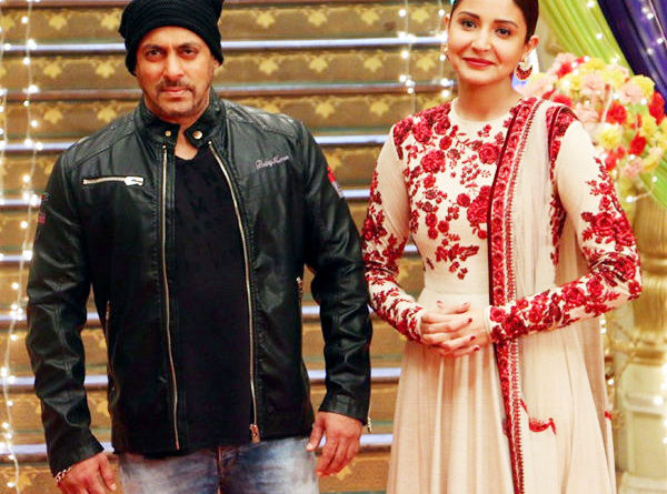 Salman and anushka on the set Udaan