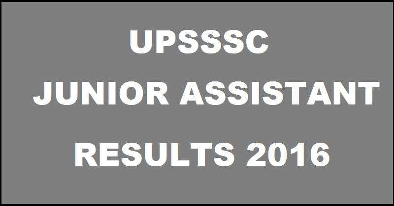 UPSSSC Junior Assistant (JA) Result 2016