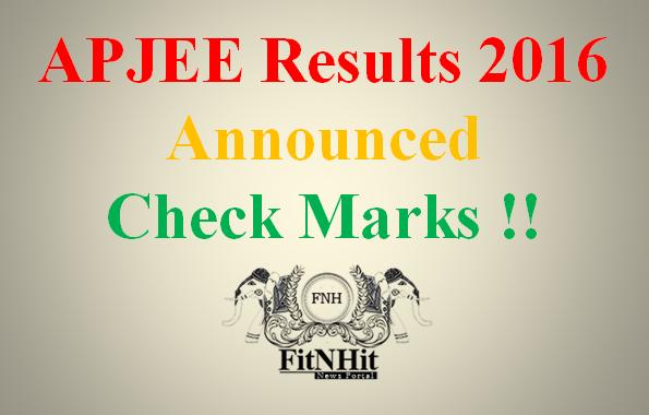 APJEE Diploma Results 2016