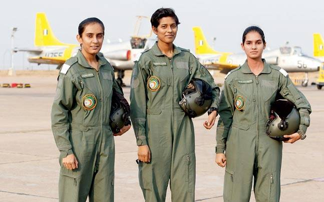 first three women figher pilots IAF