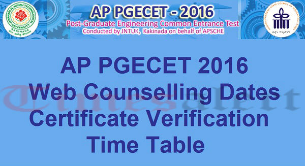 AP-PGECET-2016-Certificate-Verificaion-Web-Based-Counseling-Dates