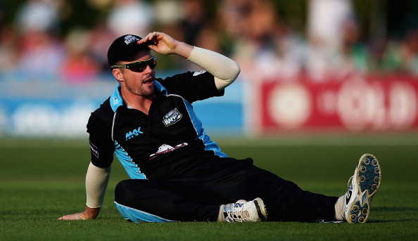 WORCESTER, ENGLAND - JULY 25: Colin Munroe of Worcestershire looks on during the NatWest T20 Blast match between Worcestershire Rapids and Derbyshire Falcons at New Road on July 25, 2014 in Worcester, England. (Photo by Matthew Lewis/Getty Images)