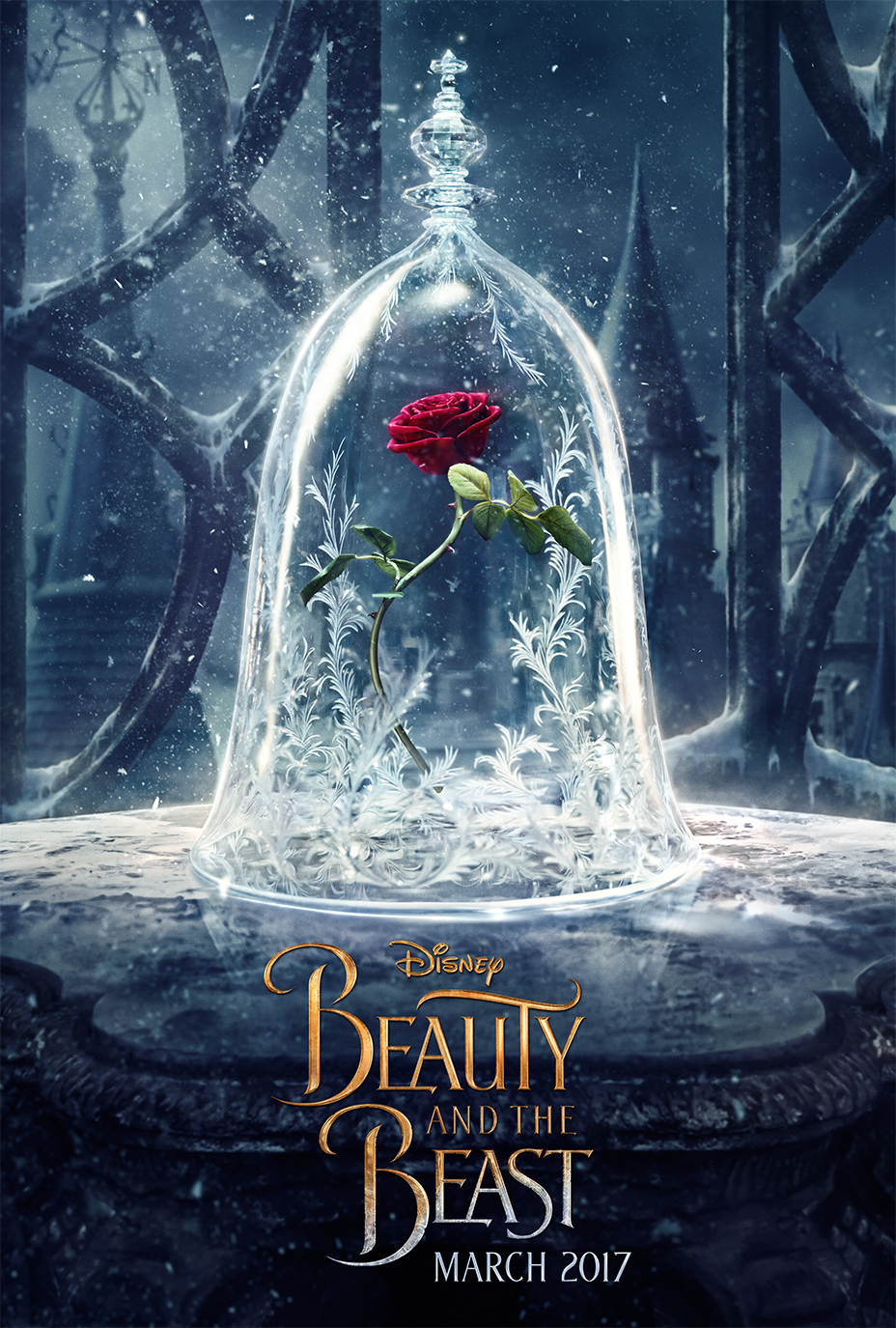 Disney Releases 'Beauty and the Beast' Poster With Iconic Enchanted Rose