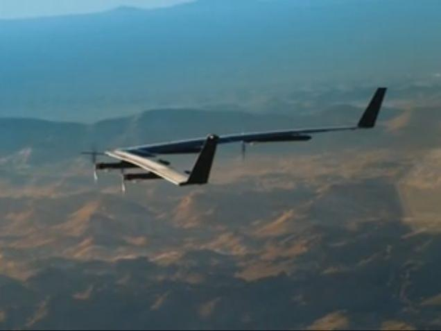 Facebook's solar-powered drone launched