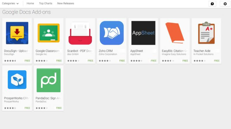 Google launches add-ons for Sheets and Docs apps on Android