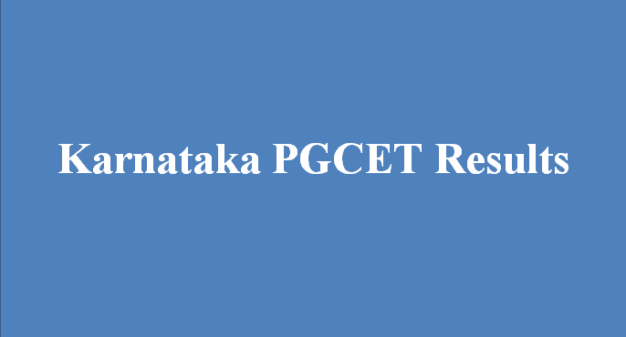 Karnataka PGCET 2016 Entrance Results