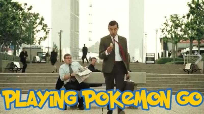 Now Mr Bean catches the Pokemon Go fever too!