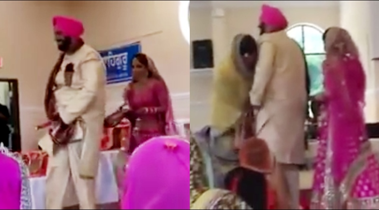 Punjabi groom's pyjama falls during wedding ceremony