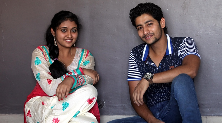 Rinku and Akash the couple from Marathi Movie Sairat which has broken all the records in collection in Marathi movie in which Rinku got a special mention in National awards. Express Photo by Arul Horizon, 16-05-2016, Pune