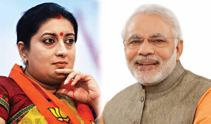 Smriti Irani's choice for CBSE chief is rejected by PM Narendra Modi