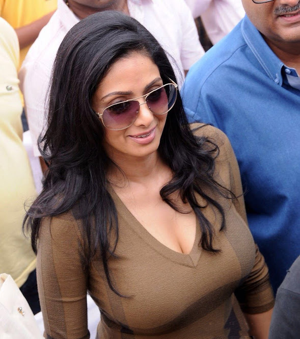 Sridevi grabs attention with her unusually 'enhanced' self!