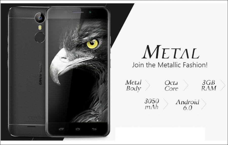 Ulefone Metal Affordable Smartphone Launched with 3GB Of RAM and 3050mAh Battery