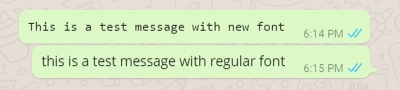WhatsApp gets a new font; know how to use them all1