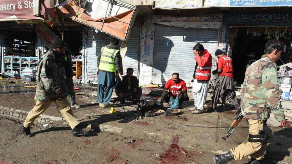 At least 40 dead after bomb explosion at civil hospital in Quetta