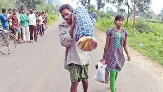 Odisha tribal walks 10 km carrying wife's body