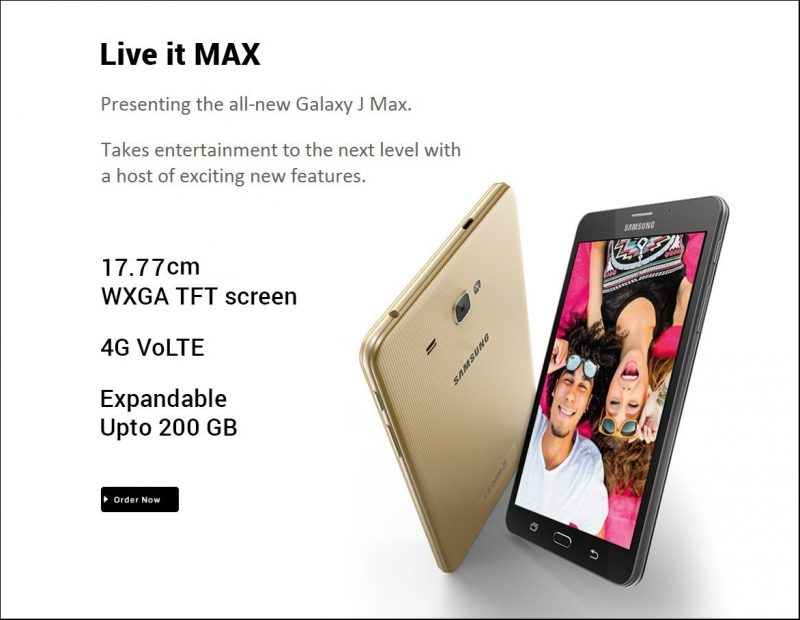 Samsung Galaxy J Max Handset is Now Available to Buy via. Flipkart at Rs. 13,400