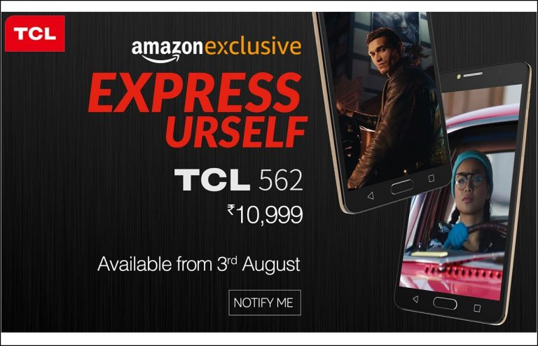 TCL 562 Mobile is now Available to Buy Via. Amazon India With a Price Tag of Rs. 10,999