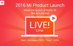 Xiaomi Redmi 3S Handset will Launch Today in India – Watch live Streaming Here