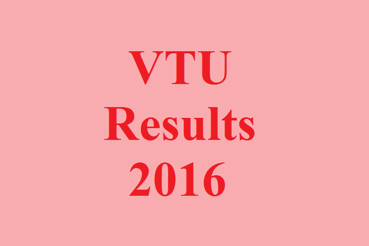 VTU Exam Result 2016