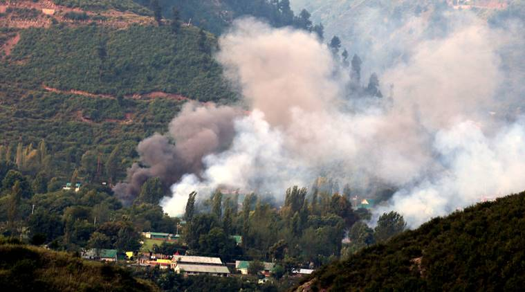 Militants have attacked an army base in Indian-administered Kashmir, killing at least 17 soldiers, the army says. Four of the attackers were killed. Express Photo By Shuaib Masoodi 13-09-2016