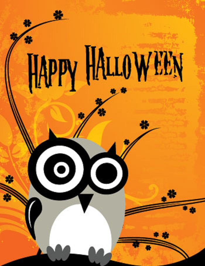 Celebrate halloween day 2018 quotes wishes images whatsapp status dp happy halloween owl greeting card m4hsunfo