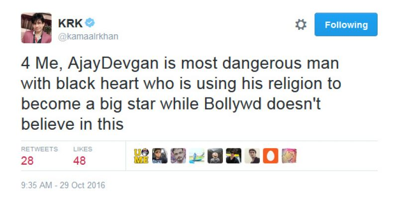 krk-ajay-devgn-is-a-dangerous-man-with-black-heart