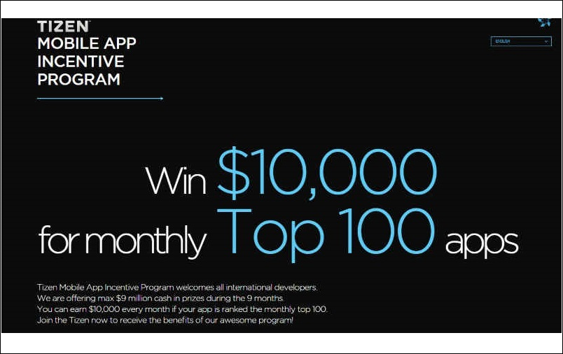 samsung-tizen-mobile-os-program-announced-for-developers-with-cash-prizes-of-10000