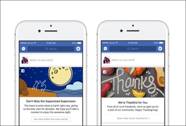 Facebook Introduces New Messages And Greeting Cards On News Feed