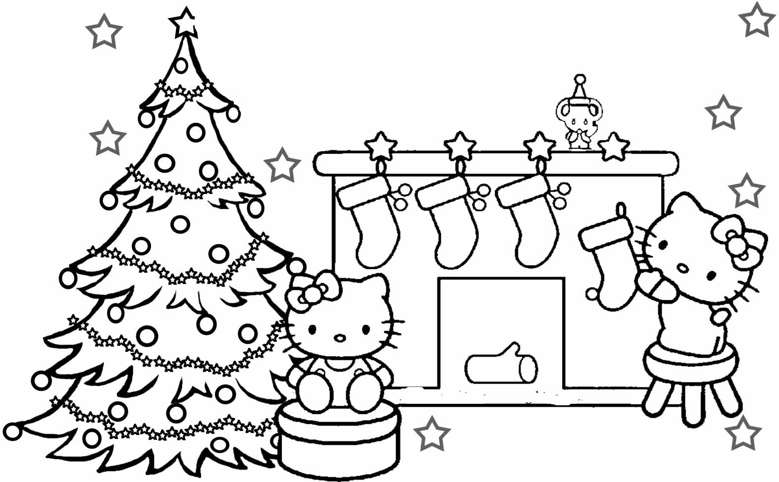 christmas banner coloring pages - photo#14