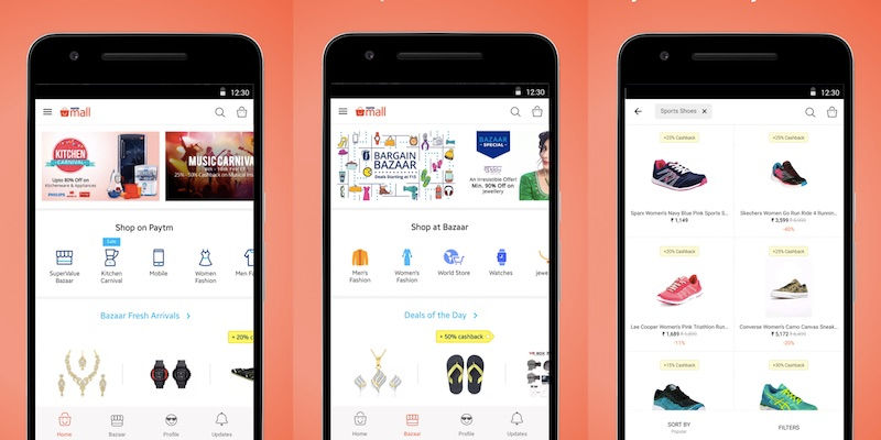 Paytm Mall App Launched for E-commerce Standalone Service in