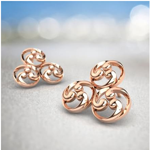 Trinity Filigree Stud Earrings