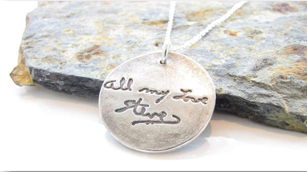 Necklace With Personal Handwriting