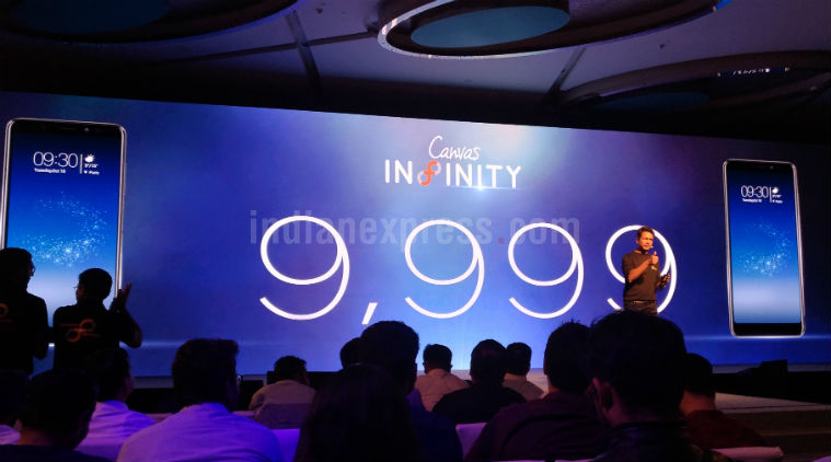 Micromax has created a frameless smartphone Canvas Infinity