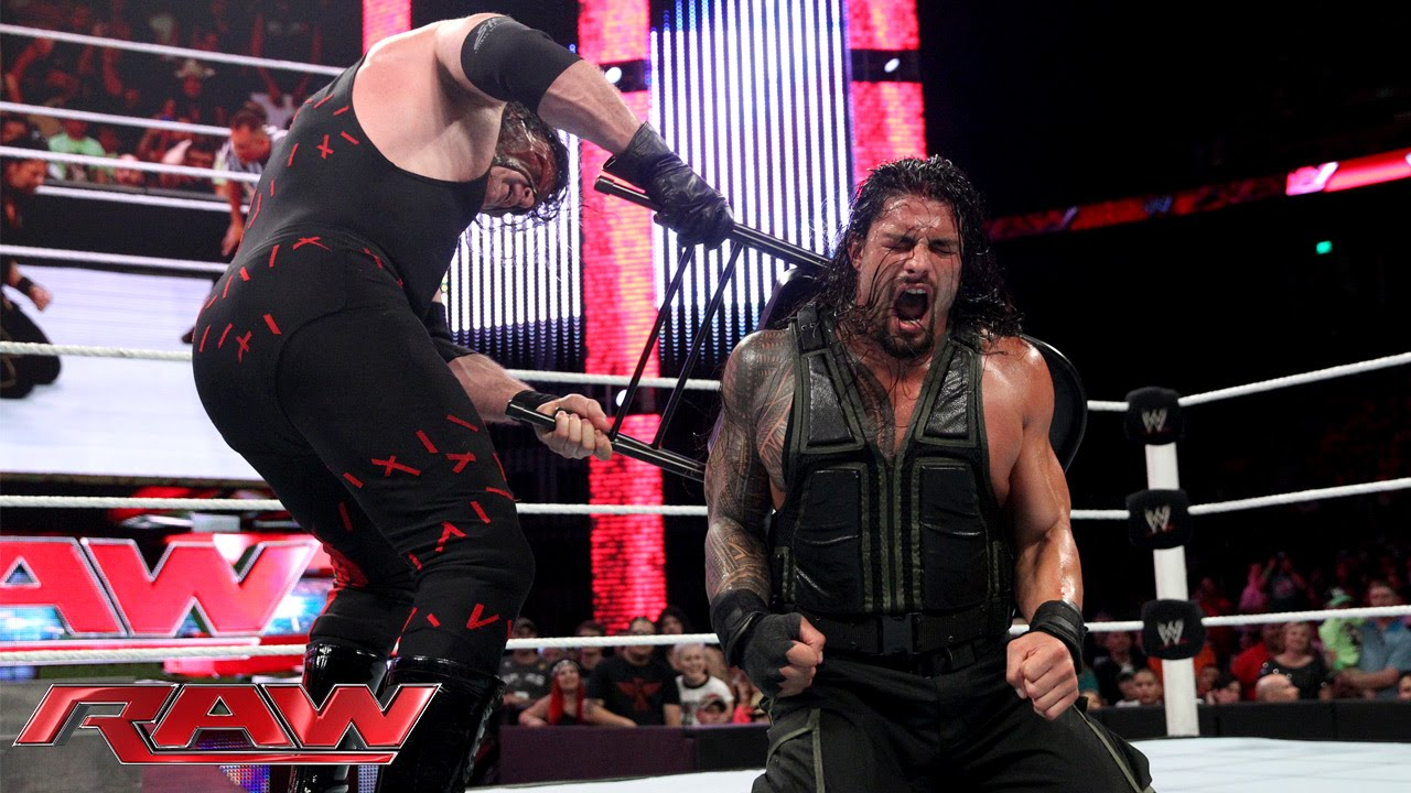 Wwe Raw Kane Returns Knocked Out Roman Reigns Amp Joins