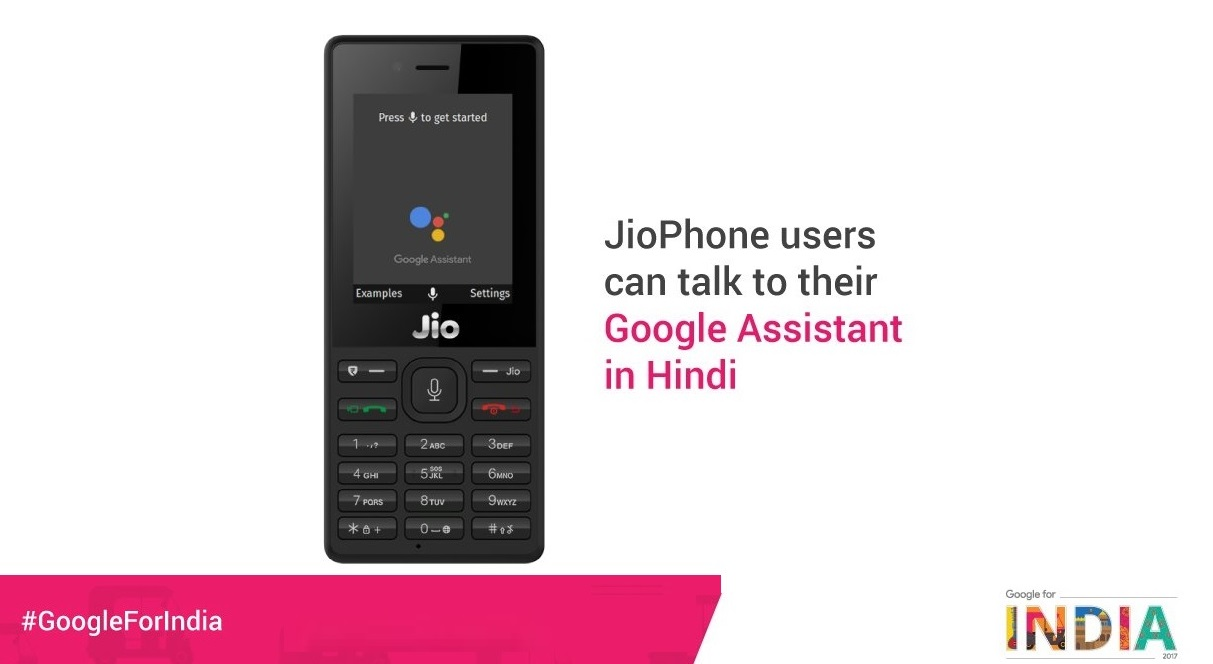 The Reliance JioPhone Feature Phone is Getting the Google Assistant
