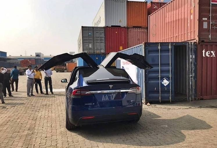 India First Ever Tesla Model X Electric SUV Arrives in ...