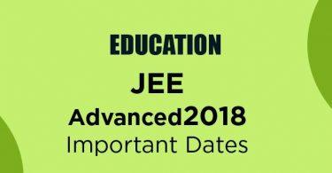 JEE Advanced 2018 Exam Dates