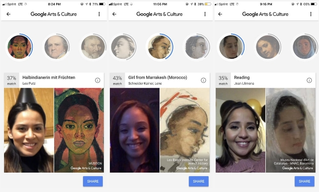 How the Cleveland Cavaliers look in the Google Arts & Culture app