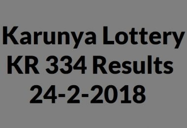 Karunya Lottery KR 334 Results 24-2-2018