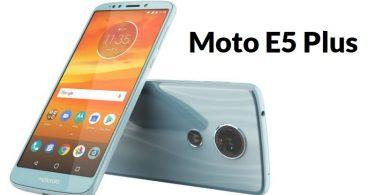 Moto E5 Plus Features