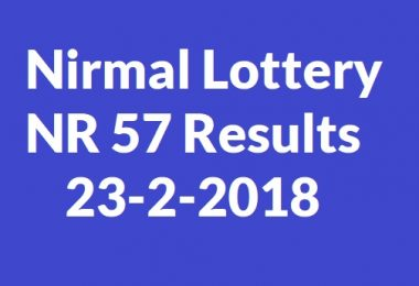 Nirmal Lottery NR 57 Results 23-2-2018