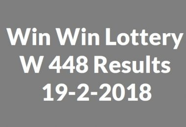 Win Win Lottery W 448 Results 19-2-2018